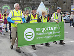 Gorta walkers arriving at the Famine Commemoration in Drogheda. Photo: Colin Bell/pressphotos.ie