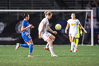 Allston, MA - Wednesday Sept. 07, 2016: Kyah Simon, Samantha Mewis during a regular season National Women's Soccer League (NWSL) match between the Boston Breakers and the Western New York Flash at Jordan Field.