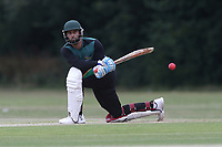 H Ikram of Harold Wood during Gidea Park and Romford CC vs Harold Wood CC, Shepherd Neame Essex League Cricket at Gidea Park Sports Ground on 6th July 2019