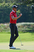 Henrik Stenson (SWE) after sinking his birdie putt on 1 during round 4 of the WGC FedEx St. Jude Invitational, TPC Southwind, Memphis, Tennessee, USA. 7/28/2019.<br /> Picture Ken Murray / Golffile.ie<br /> <br /> All photo usage must carry mandatory copyright credit (© Golffile | Ken Murray)