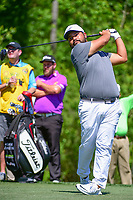 J.J. Spaun (USA) watches his tee shot on 13 during round 2 of the Shell Houston Open, Golf Club of Houston, Houston, Texas, USA. 3/31/2017.<br /> Picture: Golffile | Ken Murray<br /> <br /> <br /> All photo usage must carry mandatory copyright credit (&copy; Golffile | Ken Murray)