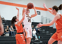 The Occidental College women's basketball team plays against Caltech in Rush Gym on Jan. 26, 2019.<br /> (Photo by Marc Campos, Occidental College Photographer)