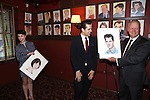 Leanne Cope and Robert Fairchild with Max Klimavicius attend the 'An American In Paris' Sardi's Caricature Unveiling at Sardi's on May 28, 2015 in New York City.