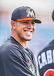 9 March 2013: Miami Marlins pitcher Jose Fernandez warms up prior to a Spring Training game against the Washington Nationals at Space Coast Stadium in Viera, Florida. The Nationals edged out the Marlins 8-7 in Grapefruit League play. Mandatory Credit: Ed Wolfstein Photo *** RAW (NEF) Image File Available ***