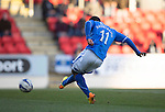 St Johnstone v Kilmarnock.....09.11.13     SPFL<br /> Nigel Hasselbaink scores to make it 1-0<br /> Picture by Graeme Hart.<br /> Copyright Perthshire Picture Agency<br /> Tel: 01738 623350  Mobile: 07990 594431