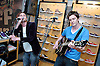 Sons of Jim <br /> In Store appearance at Vans, Carnaby Street, London, Great Britain<br /> May 29, 2006 <br /> <br /> EXCLUSIVE COVERAGE<br /> <br /> l to r<br /> <br /> Jamie Dornan &amp; David Alexander of Sons of Jim   Jamie Dornan in the band <br /> Sons of Jim <br />