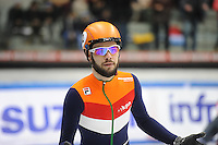 SHORT TRACK: TORINO: 14-01-2017, Palavela, ISU European Short Track Speed Skating Championships, Final A 1500m Men, Sjinkie Knegt (NED), penalty, ©photo Martin de Jong