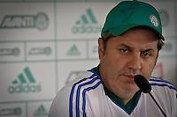 SÃO PAULO,SP,19 JULHO 2013 - TREINO PALMEIRAS -  O tecnico Gilson Kleina durante entrevista coletiva realizada no CT da Barra Funda, zona oeste de Sao Paulo,na manhã sexta feira.FOTO ALE VIANNA - BRAZIL PHOTO PRESS.