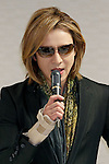 Japanese musician Yoshiki of X JAPAN meets with members of the ruling Liberal Democratic Party of Japan (LDP) at their headquarters on November 30, 2016, Tokyo, Japan. Yoshiki was invited to help promote Prime Minister Shinzo Abe's administration project Cool Japan overseas. Cool Japan is a governmental project which aims to promote Japanese culture and attract foreign visitors. The government is targeting attracting 40 million foreign tourists per year by 2020 Olympic Games. In 2016 the number is expected to be 24 million. (Photo by Rodrigo Reyes Marin/AFLO)
