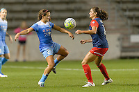 Chicago, IL - Saturday Sept. 24, 2016: Danielle Colaprico, Katie Stengel during a regular season National Women's Soccer League (NWSL) match between the Chicago Red Stars and the Washington Spirit at Toyota Park.