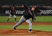 MONTERÍA - COLOMBIA, 24-11-2018:Y. Marrugo  pitcher de  Tigres de Cartagena  e acción contra Leones de Montería durante el juego  correspondiente a la Liga Colombiana de Béisbol Profesional temporada 2018-2019 jugado en el estadio 18 de Junio de la ciudad de Montería.  /Y. Marrugo  pitcher of  Tigres de Cartagena in actions agaisnt of Leones de Monteria during the game corresponding to the Colombian Professional Baseball League season 2018-2019 played at the stadium June 18 in the city of Monteria . Photo: VizzorImage /Andrés Felipe López  / Contribuidor.