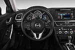 Steering wheel view of a 2014 Mazda Mazda6 i Touring Sedan