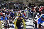 The start of the Women Elite Road Race of the UCI World Championships 2019 running 149.4km from Bradford to Harrogate, England. 28th September 2019.<br /> Picture: Andy Brady | Cyclefile<br /> <br /> All photos usage must carry mandatory copyright credit (© Cyclefile | Andy Brady)