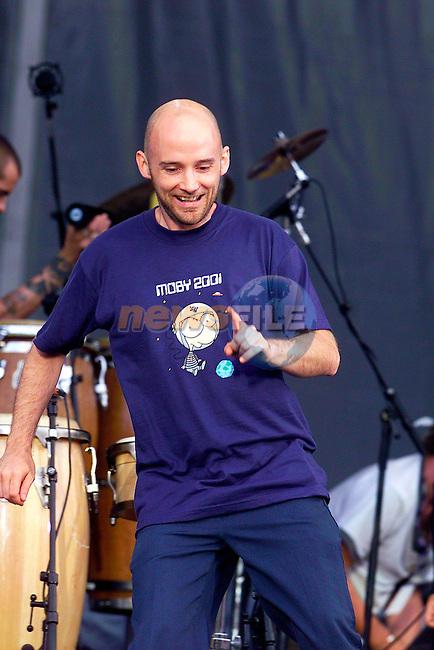 Mobi on stage at Slane Concert in Co Meath.Pic Fran Caffrey Newsfile