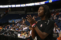 5 April 2008: Stanford Cardinal assistant coach Bobbie Kelsey during Stanford's 2008 NCAA Division I Women's Basketball Final Four open practice at the St. Pete Times Forum Arena in Tampa Bay, FL.