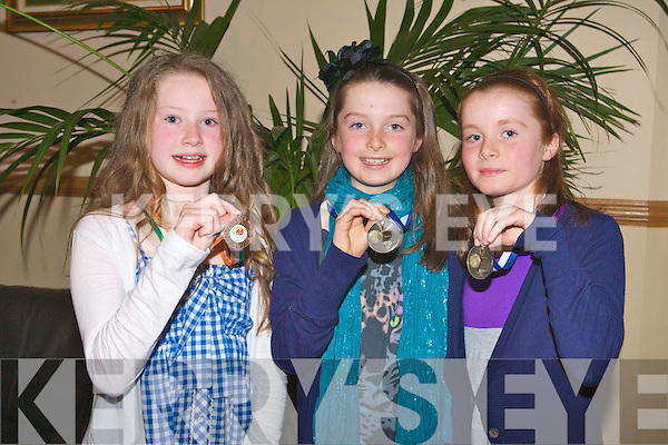IMPERIALS: Avril Fitzgerald and twins Hannah and Lauren Lenihan of Tralee Imperials U10's team enjoying a great time at awards night at the Kerins O'Rahillys clubhouse on Friday.