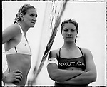 USA Olympic Preview 2004: Misty MAY (right) 27, Long Beach, California; and Kerri WALSH, 25, Redondo Beach, California,  Beach volleyball, June 2004...2004 © David BURNETT (CONTACT PRESS IMAGES)