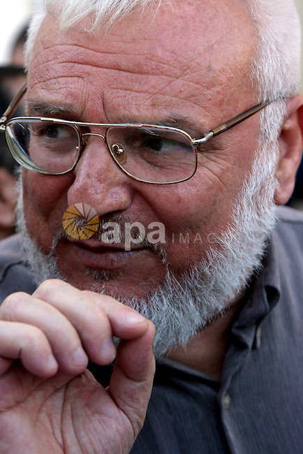 alestinian parliament speaker Abdel Aziz Duaik talks during a press conference in the West Bank city of Ramallah, following his release from an Israeli prison, Tuesday, June 23, 2009.following his release after nearly three years in Israeli prison. Dweik, 60, was elected speaker in February 2006, a month after the Islamic Resistance Movement (Hamas) swept Palestinian parliamentary elections and he was arrested by Israeli security forces at his Ramallah home in August 2006 in a West Bank crackdown on Hamas.APAIMAGES PHOTO /Issam Rimawi