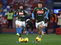 26th January 2020; Stadio San Paolo, Naples, Campania, Italy; Serie A Football, Napoli versus Juventus; Giovanni Di Lorenzo of Napoli pre-game warm up