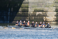 Mortlake/Chiswick, GREATER LONDON. United Kingdom. Lea RC, competing in the 2017 Vesta Veterans Head of the River Race, The Championship Course, Putney to Mortlake on the River Thames.<br /> <br /> <br /> Sunday  26/03/2017<br /> <br /> [Mandatory Credit; Peter SPURRIER/Intersport Images]