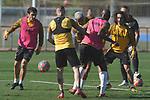 Getafe's Mauro Arambarri, Vitorino Antunes, Deyverson Da Silva, Allan Nyom and Marc Cucurella during training session. May 19,2020.(ALTERPHOTOS/Acero)