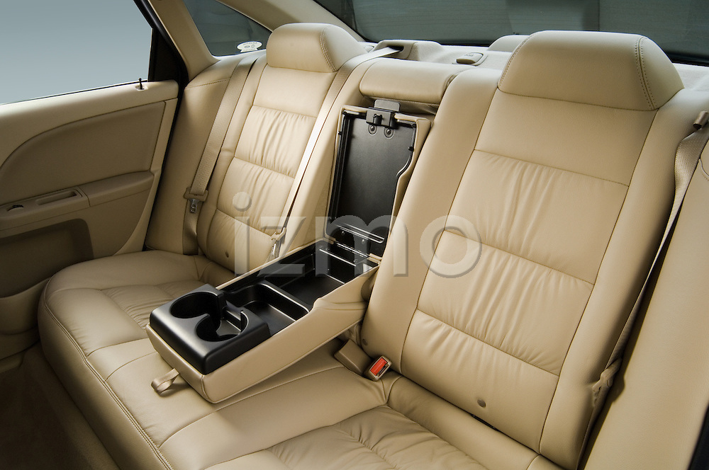 Rear back seats with center console open on a 2006 Ford Five Hundred Sedan