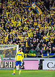 Solna 2013-11-19 Fotboll VM-kval Playoff , Sverige - Portugal :  <br /> Sverige supportrar p&aring; l&auml;ktaren under matchen<br /> (Photo: Kenta J&ouml;nsson) Keywords:  Sweden Portugal supporter fans publik supporters