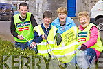 CLEAN-UPS: Members of the Listowel Tidy Towns Committee getting stuck in for this year's clean-ups, l-r: Cllr Jimmy Moloney, Jackie O'Connor, Mary O'Hanlon, Eileen Worts.