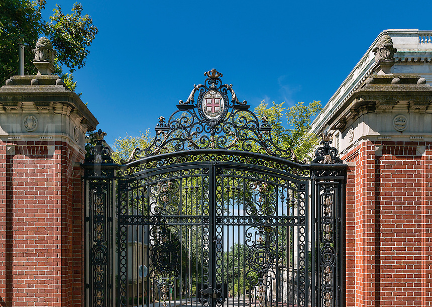 Brown University campus gate, Providence, Rhode Island, USA