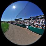 12 March 2011: Baseball fans enjoy a sunny Spring Training game between the Washington Nationals and the New York Yankees at Space Coast Stadium in Viera, Florida. The Nationals edged out the Yankees 6-5 in Grapefruit League action. Mandatory Credit: Ed Wolfstein Photo