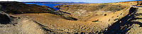Panorama. Al Hansali water reservoir in Morocco south of Meknes.