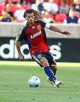 Kyle Beckerman in the Real Salt Lake v Houston 0-0 draw win at Rio Tinto Stadium in Sandy, Utah on August 15, 2009