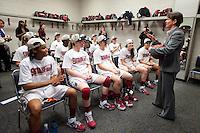 SPOKANE, WA - MARCH 28, 2011: Stanford Women's Basketball vs Gonzaga, NCAA West Regional Finals at the Spokane Arena on March 28, 2011.
