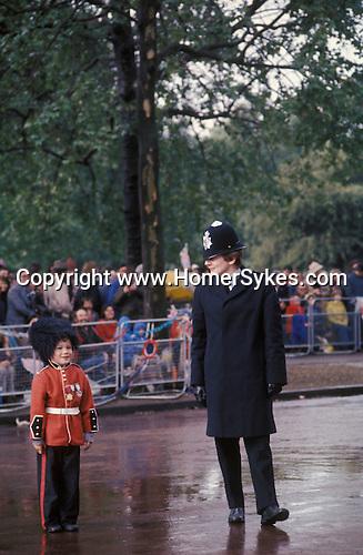 Silver Jubilee celebrations 1977 London. The Mall.