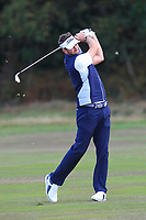 Scott Jamieson (SCO) on the 2nd fairway during Round 3 of the Sky Sports British Masters at Walton Heath Golf Club in Tadworth, Surrey, England on Saturday 13th Oct 2018.<br /> Picture:  Thos Caffrey | Golffile