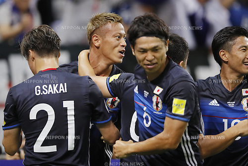 Keisuke Honda (JPN), SEPTEMBER 1, 2016 - Football / Soccer : Keisuke Honda celebrates after scoring their 1st goal during the<br /> FIFA World Cup Russia 2018 Asian Qualifier<br /> Final Round Group B<br /> between Japan 1-2 United Arab Emirates<br /> at Saitama Stadium 2002, Saitama, Japan.<br /> (Photo by Yusuke Nakanishi/AFLO SPORT)