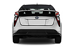 Straight rear view of a 2018 Toyota Prius lounge 5 Door Hatchback stock images