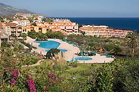 Spain, Canary Islands, La Palma, Los Cancajos: resort at the east coast, resort hotel Las Olas, pool