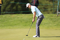 Bernd Wiesberger (AUT) putts on the 17th green during Thursday's Round 1 of the 2017 Omega European Masters held at Golf Club Crans-Sur-Sierre, Crans Montana, Switzerland. 7th September 2017.<br /> Picture: Eoin Clarke | Golffile<br /> <br /> <br /> All photos usage must carry mandatory copyright credit (&copy; Golffile | Eoin Clarke)