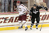 Patrick Wey (BC - 6), Drew Brown (PC - 7) - The Boston College Eagles defeated the Providence College Friars 7-0 on Saturday, February 25, 2012, at Kelley Rink at Conte Forum in Chestnut Hill, Massachusetts.