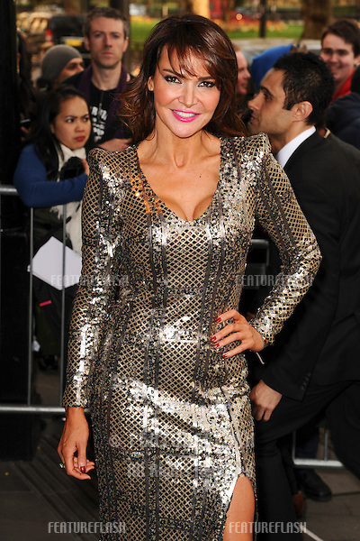 Lizzie Cundy arrives for The Asian Awards 2014 at the Grosvenor House Hotel, London. 04/04/2014 Picture by: Steve Vas / Featureflash