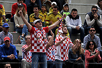 BOGOTA - COLOMBIA – 14 – 09 -2019: Fanáticos de Croacia, durante partido de la Copa Davis entre los equipos de Colombia y Croacia, partidos por el ascenso al Grupo Mundial de Copa Davis por BNP Paribas, en la Plaza de Toros La Santamaria en la ciudad de Bogota. / Fans of Croatia, during a Davis Cup match between the teams of Colombia and Croatia, match promoted to the World Group Davis Cup by BNP Paribas, at the La Santamaria Ring Bull in Bogota city. / Photo: VizzorImage / Luis Ramirez / Staff.