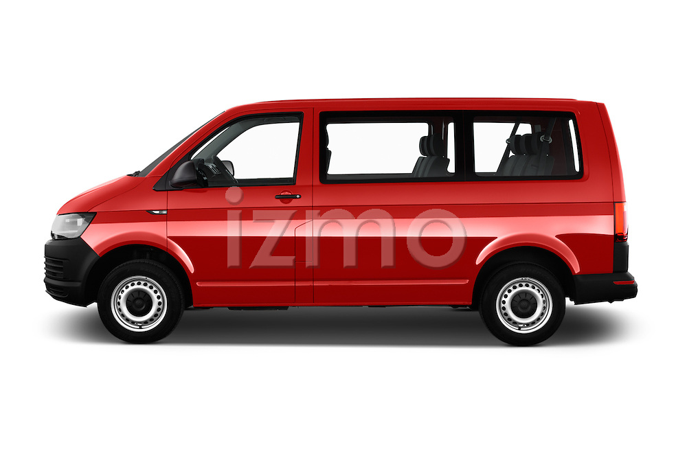 Car Driver side profile view of a 2016 Volkswagen Transporter - 5 Door Passenger Van Side View