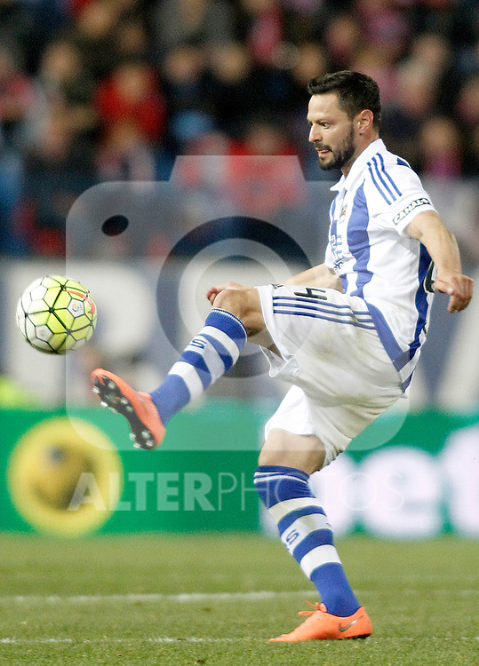 Real Sociedad's Alberto de la Bella during La Liga match. March 1,2016. (ALTERPHOTOS/Acero)