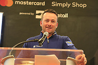 Mastercard Brand Ambassador Graeme McDowell (NIR) at the Media reception held by Mastercard at the end of Wednesday's Pracitce Day of the 2018 AT&amp;T Pebble Beach Pro-Am, held over 3 courses Pebble Beach, Spyglass Hill and Monterey, California, USA. 7th February 2018.<br /> Picture: Eoin Clarke | Golffile<br /> <br /> <br /> All photos usage must carry mandatory copyright credit (&copy; Golffile | Eoin Clarke)