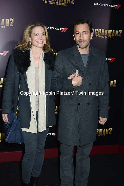 "Amy Robach and husband Andrew Shue attend the U.S. Premiere of Paramount Pictures'   ""Anchorman 2: The Legend Continues""  on  December 15, 2013 at the Beacon Theatre in New York City."