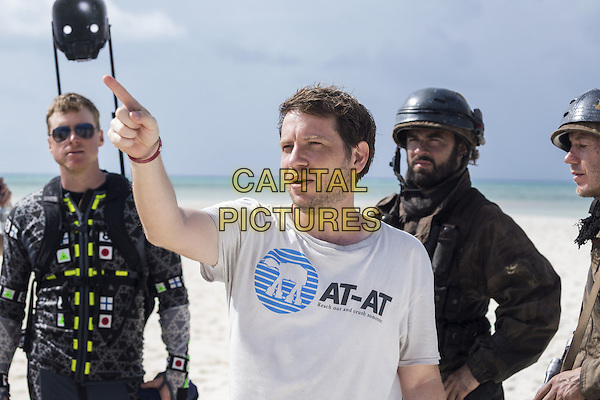 Rogue One: A Star Wars Story (2016)<br /> Director Gareth Edwards (actor Alan Tudyk in b/g).<br /> *Filmstill - Editorial Use Only*<br /> CAP/KFS<br /> Image supplied by Capital Pictures