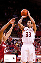 27 December 2011: Bo Spencer #23 of the Nebraska Cornhuskers shoots a jump shot against the Wisconsin Badgers during the second half at the Devaney Sports Center in Lincoln, Nebraska. Wisconsin defeated Nebraska 64 to 40.