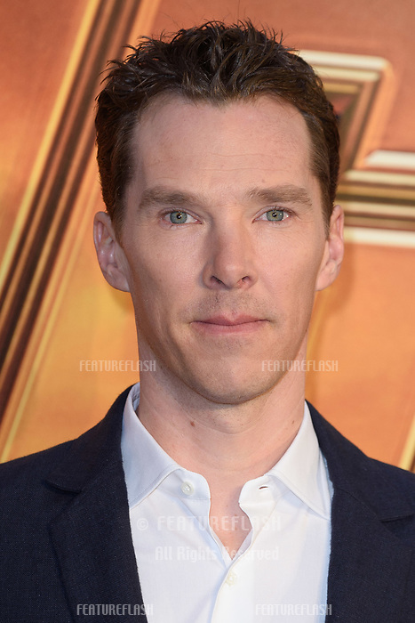 Benedict Cumberbatch arriving for the &quot;Avengers: Infinity War&quot; fan event at the London Television Studios, London, UK. <br /> 08 April  2018<br /> Picture: Steve Vas/Featureflash/SilverHub 0208 004 5359 sales@silverhubmedia.com