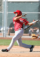 Carlos Mendez, Cincinnati Reds 2010 minor league spring training..Photo by:  Bill Mitchell/Four Seam Images.